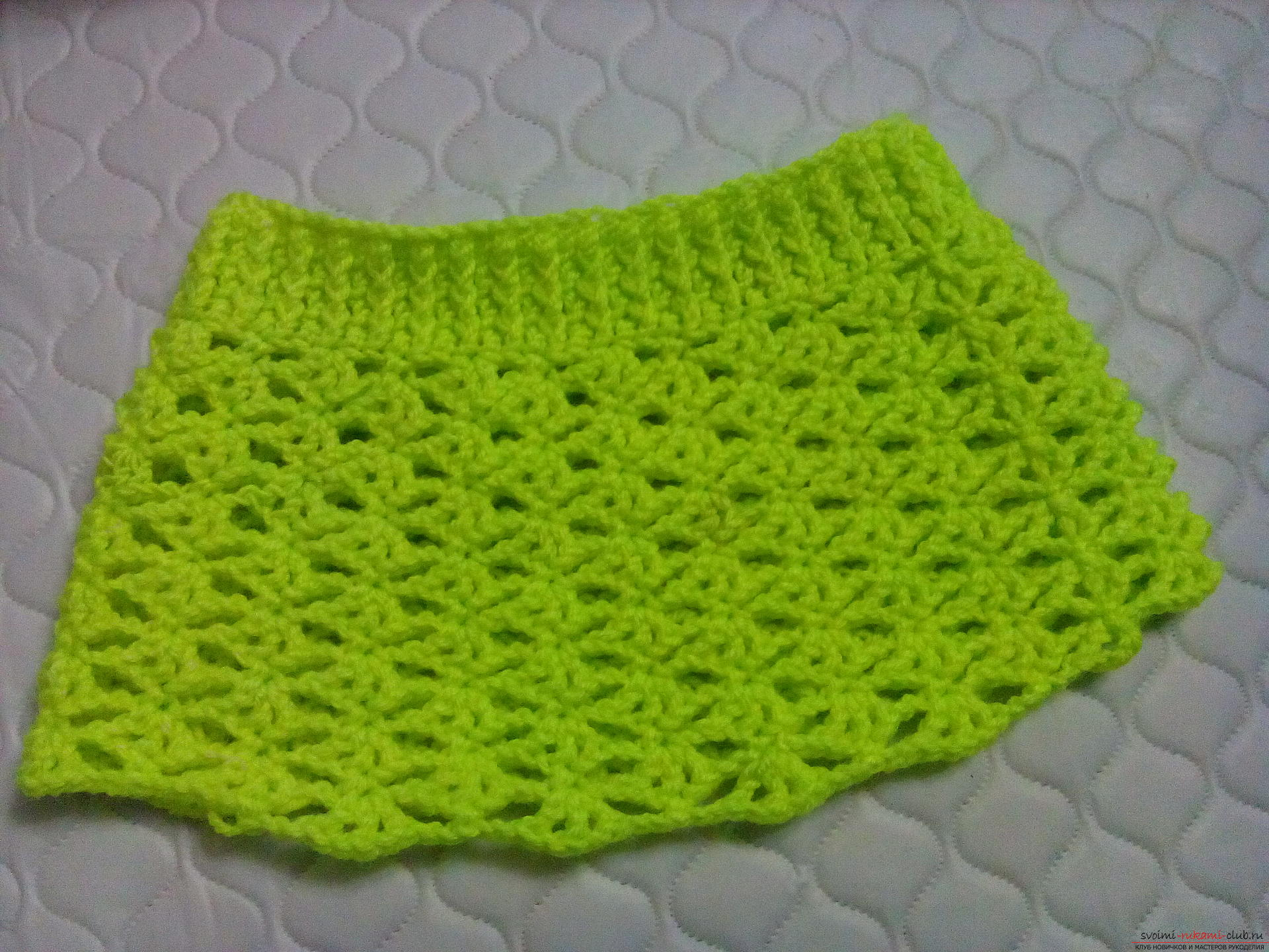 Knitting pattern of a children's skirt for the summer with a photo. Photo Number 11