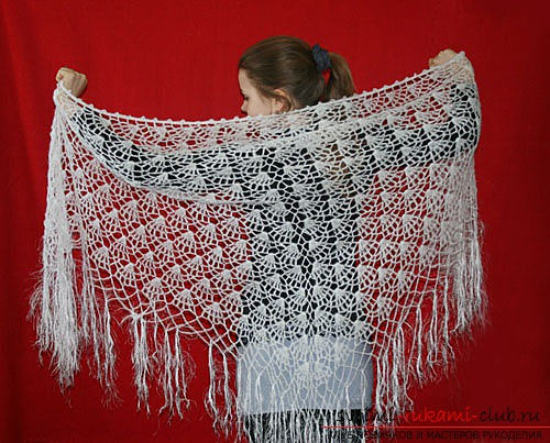 Knitting patterns of crochet shawls for free. Photo №5