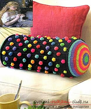 How to tie a pillow crochet, charts and a detailed description of the work, photos of finished products .. Photo # 6