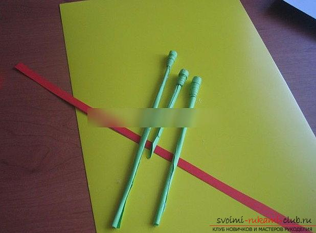 Quilling of a carnation for a postcard postcard, by May 9th with your own hands. Photo №4