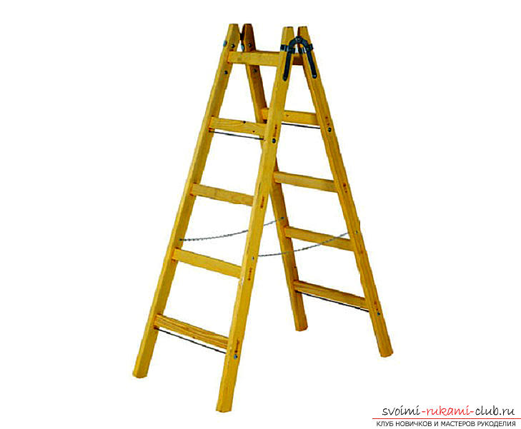 Assembly of a ladder made of wood with your own hands is a step-by-step instruction. Photo №1