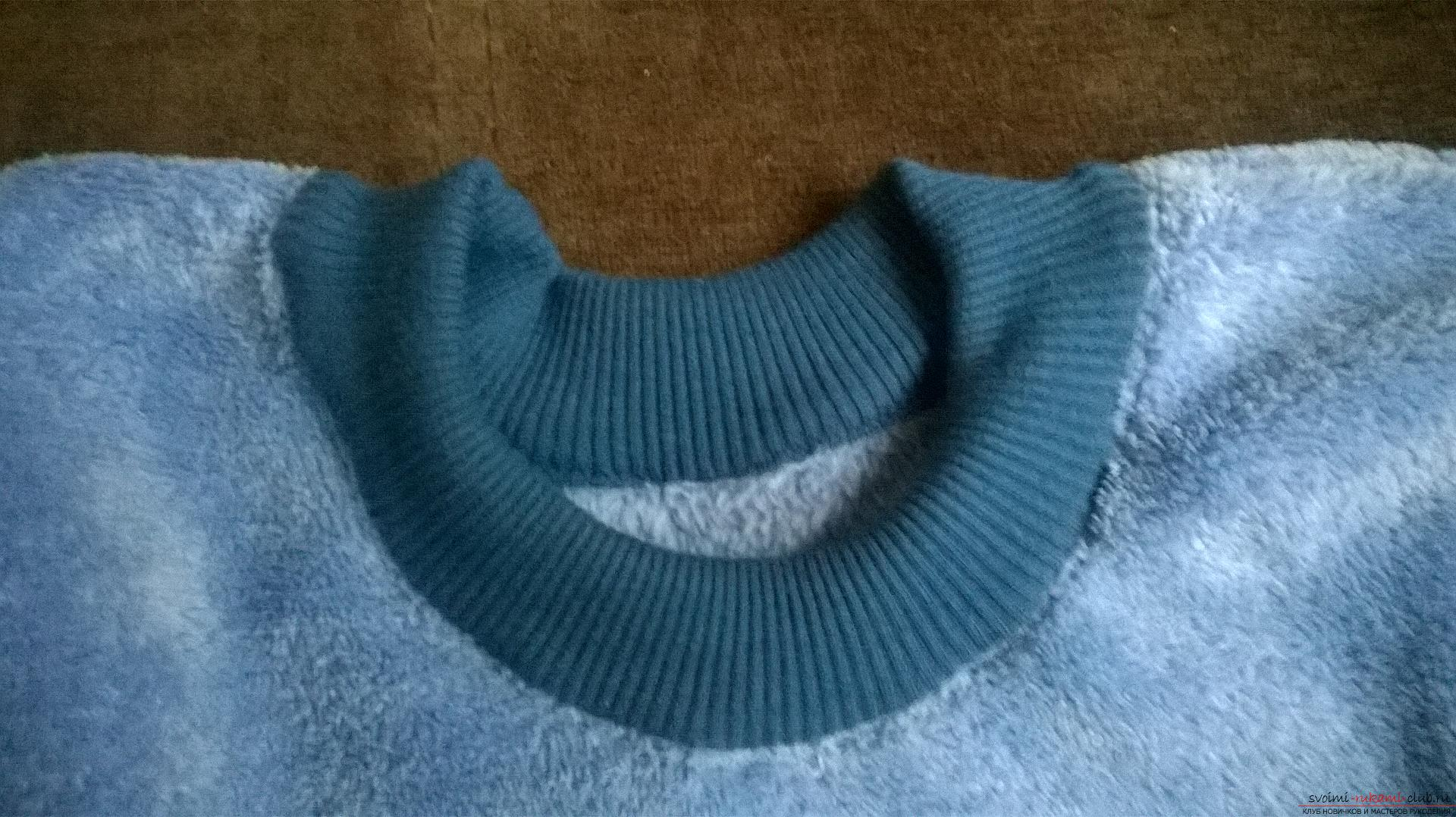 A detailed master class will teach how to sew a children's sweater for a boy with an applique. Photo Number 11