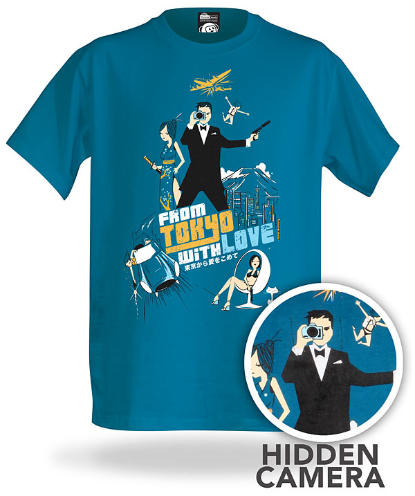 original t-shirt with spy camera