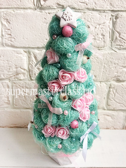 Christmas tree from sisal do-it-yourself: master class