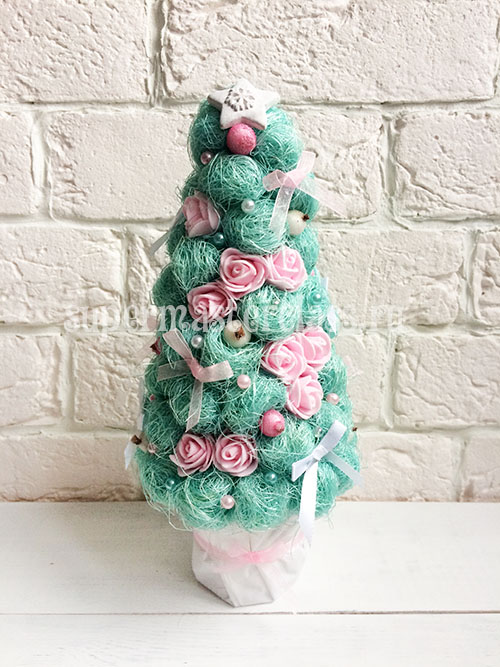 Christmas tree from sisal do it yourself