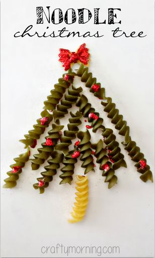 Christmas tree from a pasta postcard