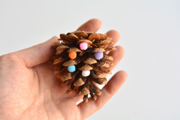 Christmas toys made of cones