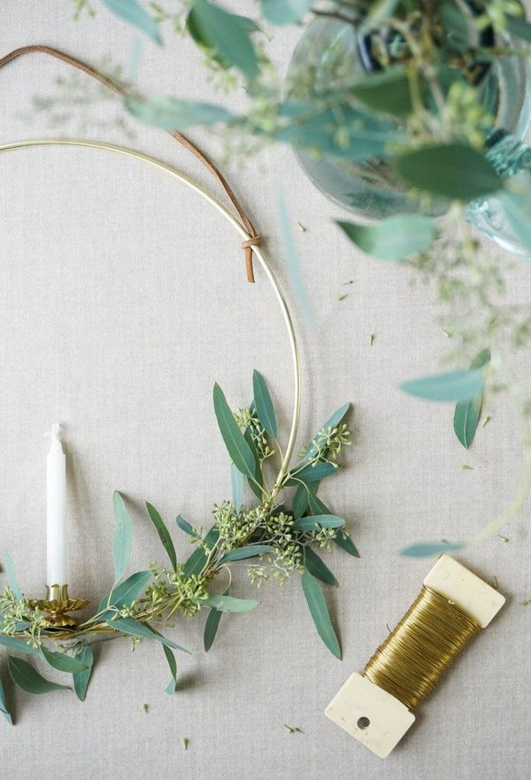master class candlestick wreath with your own hands