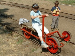 A homemade railcar.