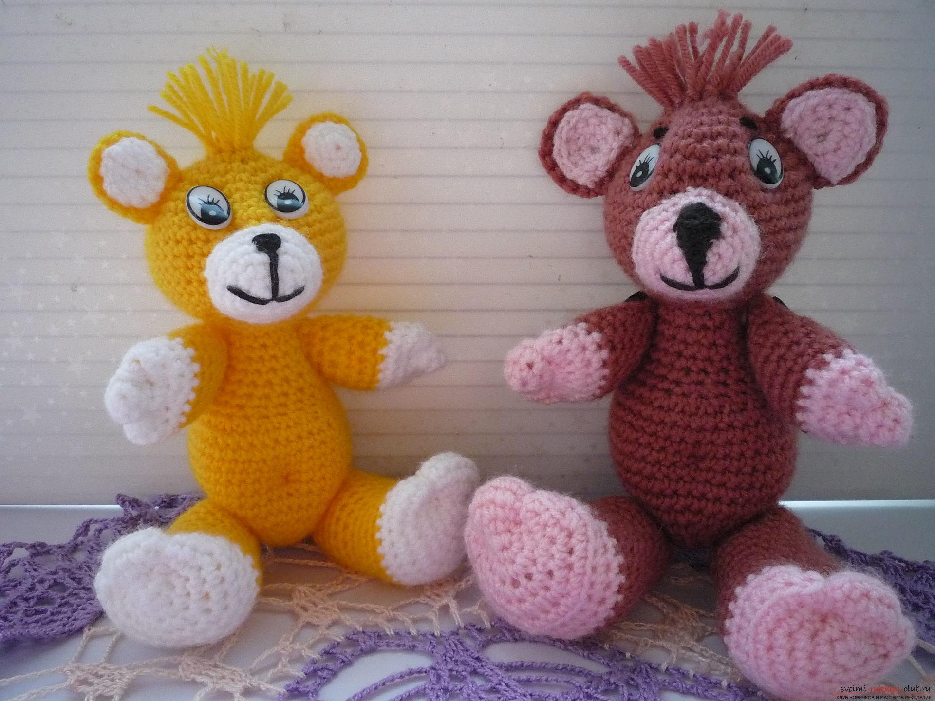 This master class of soft toys will teach crochet teddy bear Amigurumi. Photo №32