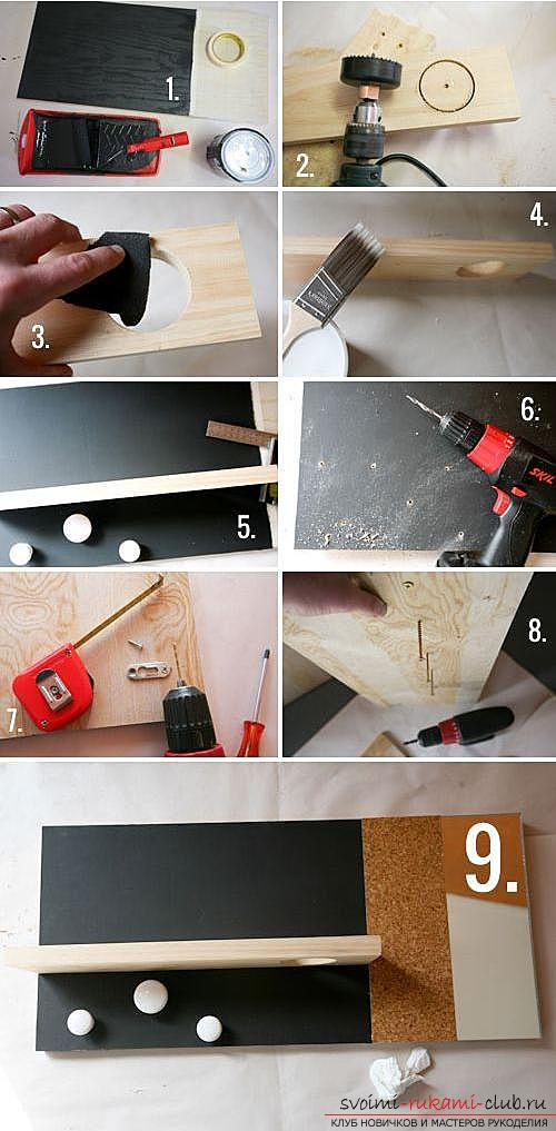 Original interior items with your own hands, how to make a wall mounted organizer at home .. Photo # 2