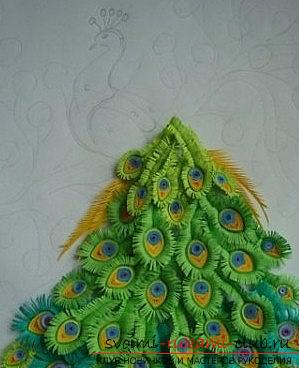 A colorful peacock and quilling technique for birds - a master class with their own hands. Photo №4