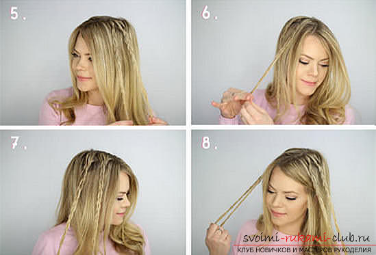 Master classes on creating hair styles for hair of medium length with their own hands. Photo Number 14