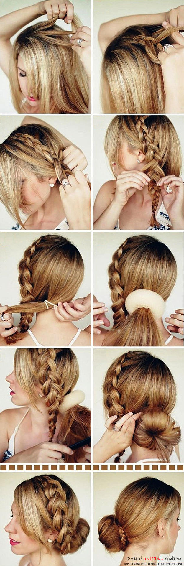 Step-by-step execution of hairstyles for girls of early and adolescence. Photo №5