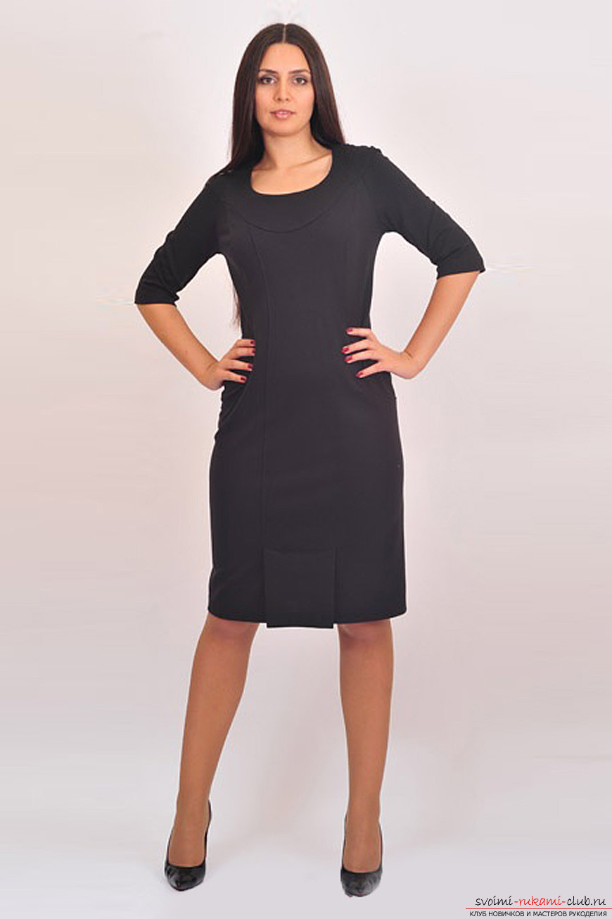 Black elegant dress that you can sew yourself. Photo of models of dresses .. Photo # 2