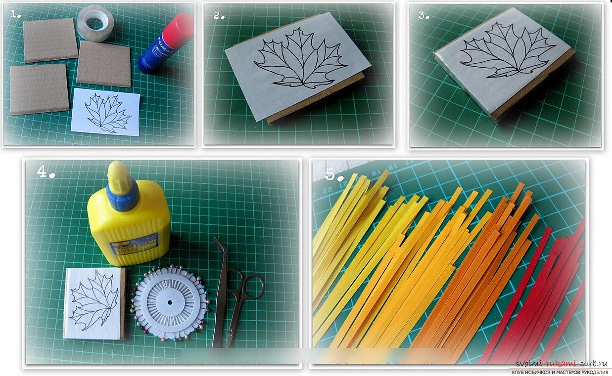 How to make a maple leaf by yourself? Quilling and master classes. Photo # 2