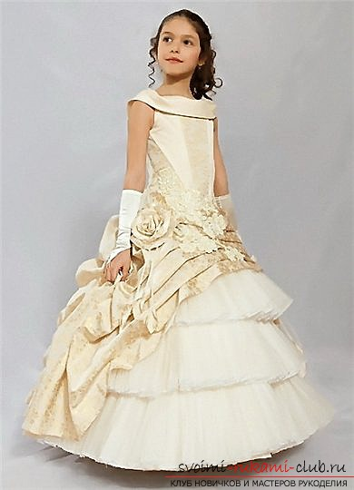 Try to make a beautiful princess dress with your own hands: photos and a master class for tailoring !. Picture №3