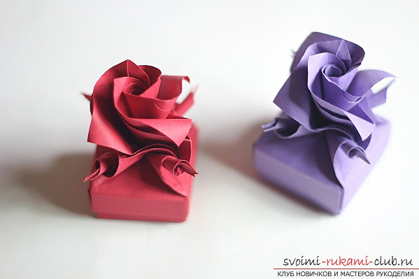 Rose-origami paper. Simple hand-made origami for free .. Picture №1
