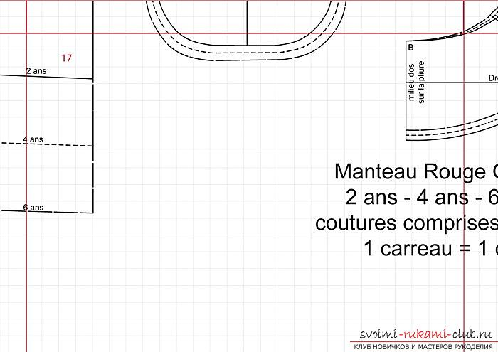Pattern of a coat-manto for a girl of preschool age. Photo Number 19