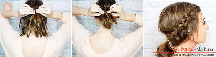 Master classes on creating hair styles for hair of medium length with their own hands. Photo №5