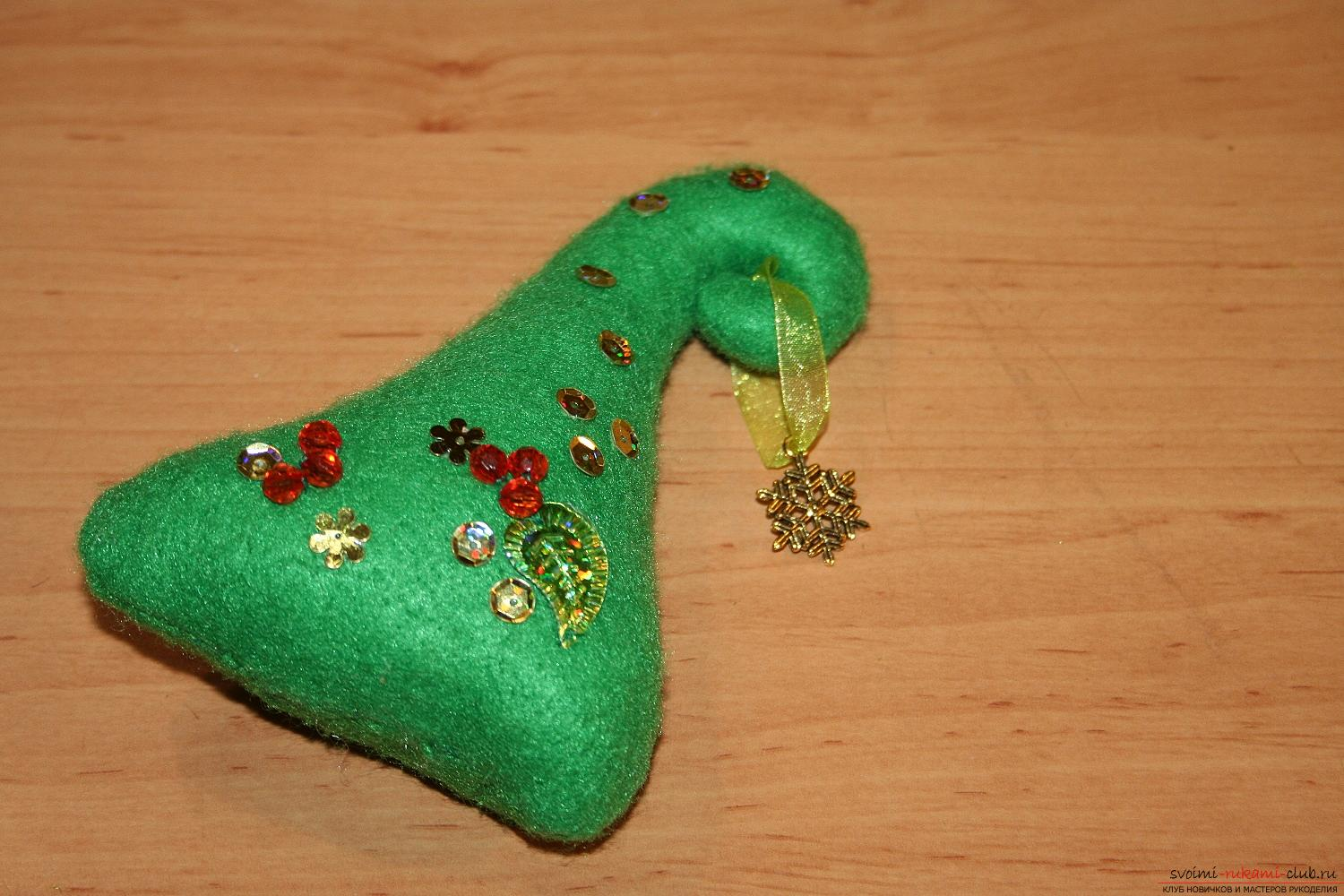 Master class with a photo of the hand-made Christmas tree will teach you how to make it yourself. Photo number 15