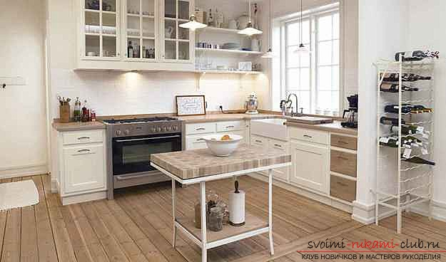 photo examples of interiors of kitchens in the Scandinavian style. Photo # 2