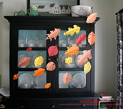 We make autumn articles from paper .. Photo №15