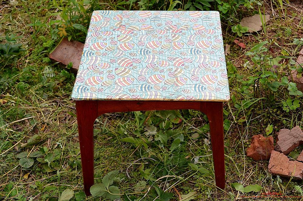 This master class with photo and description will show the technique of decoupage of country furniture - stools .. Photo №16