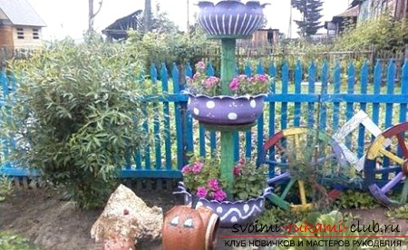 Together we create crafts for the garden with our own hands. The result is beautiful and practical. Picture №10