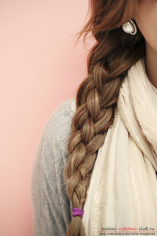 Interesting ideas for creating hairstyles with pigtails on medium hair themselves. Photo №8