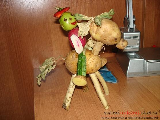 We learn to create original crafts from vegetables and fruits with our own hands. Photo №7