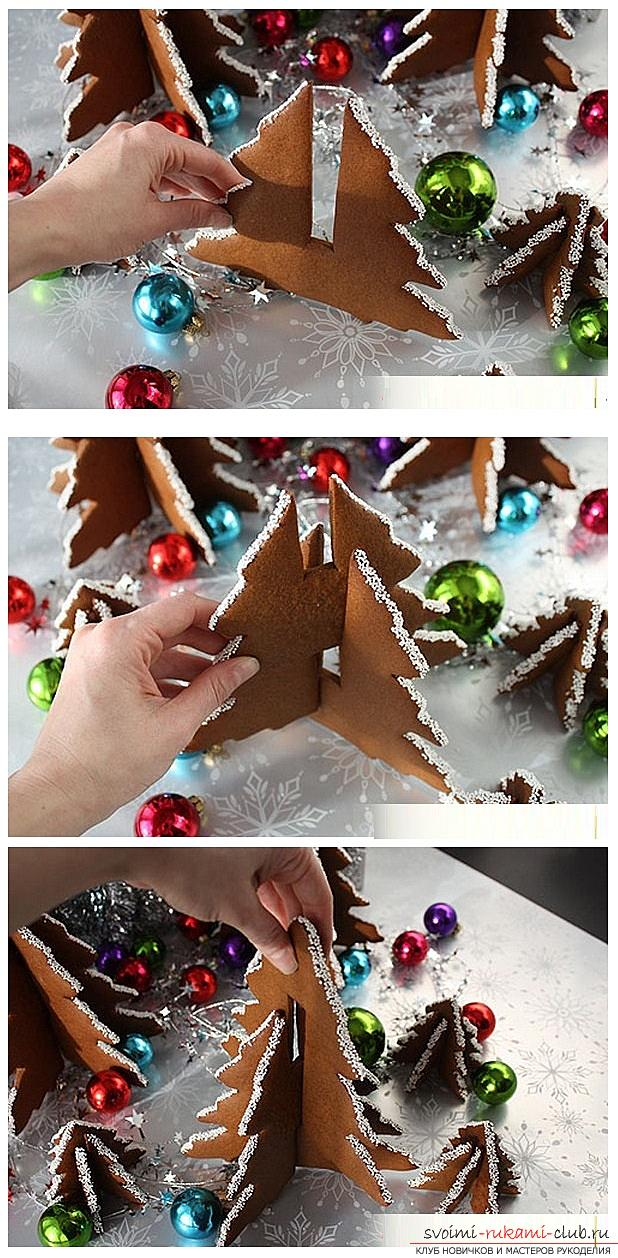 How to make Christmas toys with your own hands of dough, silicone sealant, tangerines and crochet and knitting, master classes with recipes and photos. Photo №29