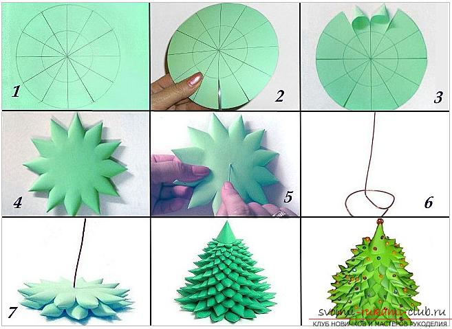 Master-class on making a tree of paper with your own hands. Picture №3