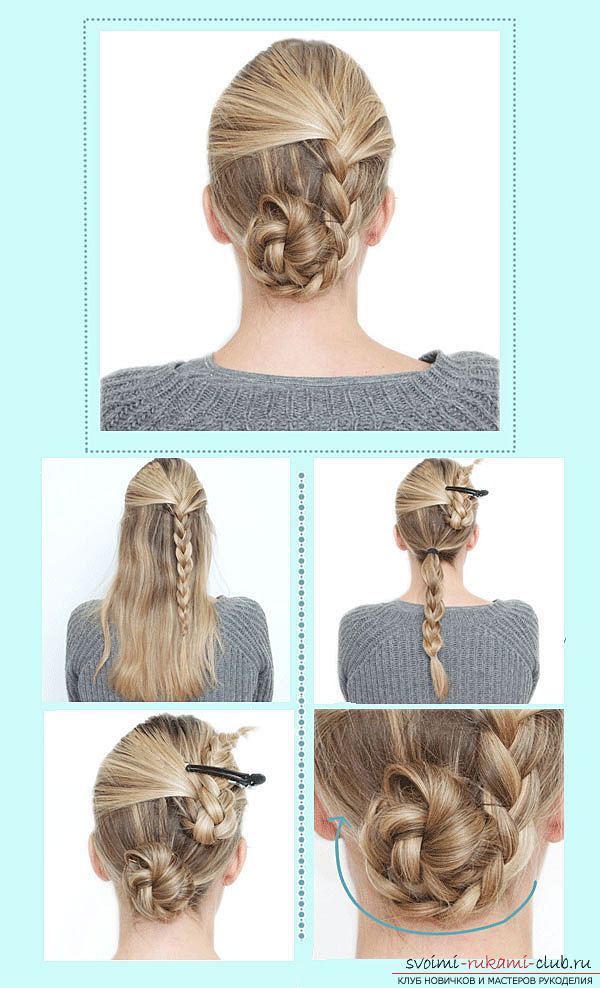 How to make children's hairstyles for girls with their own hands: to make a hairstyle for a girl just !. Photo №6