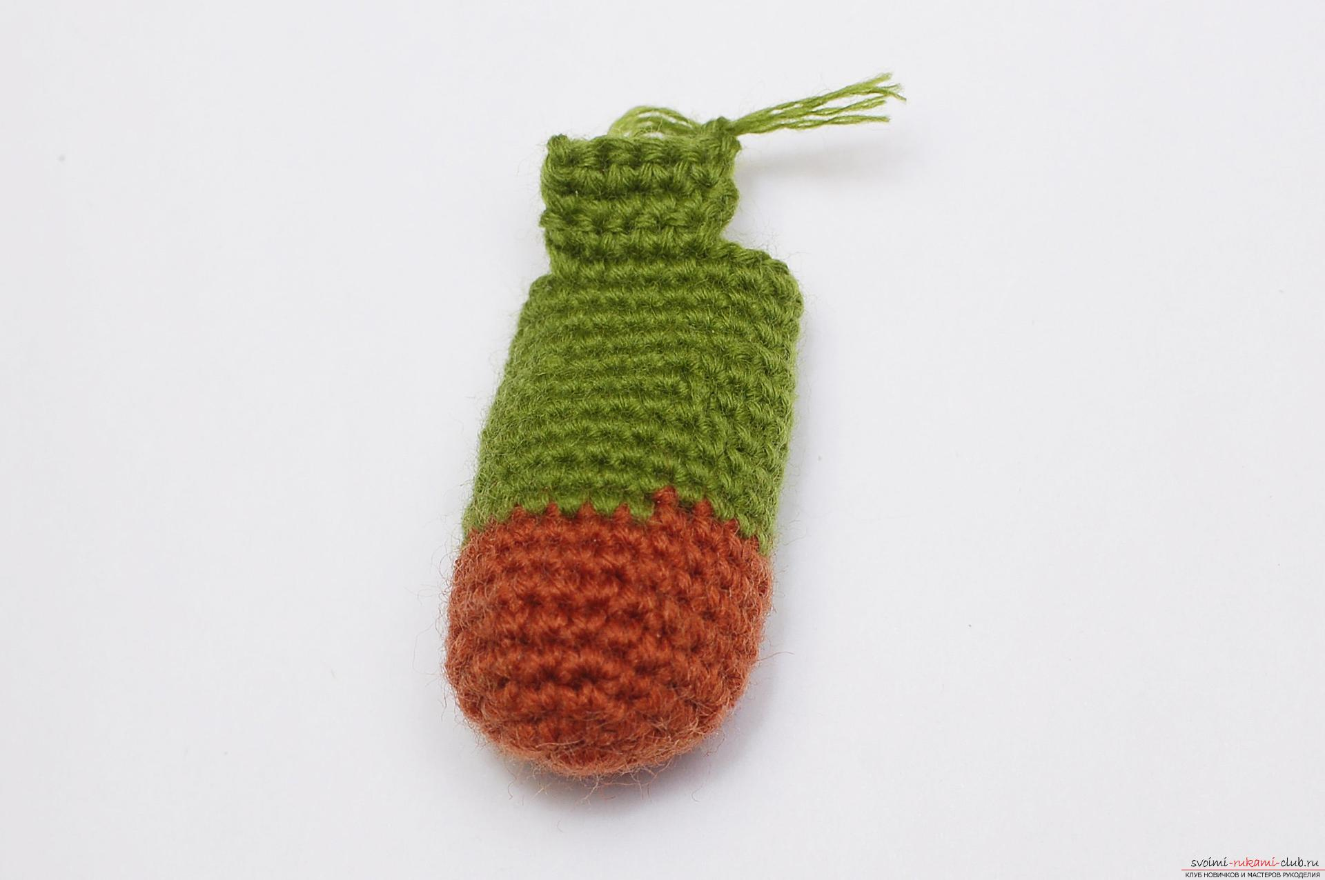 In this master class you will learn how to tie a crochet bean as a gift to the Pope on February 23. Photo # 19