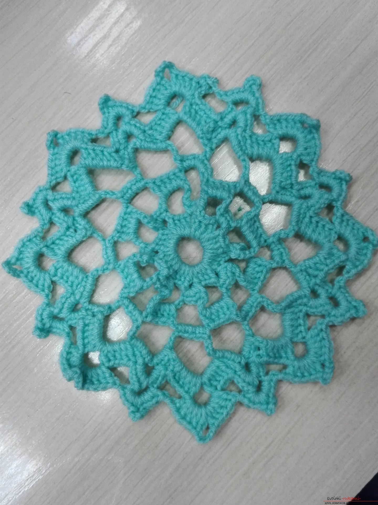 A master class on crocheting an openwork napkin will be clear even for beginners. Photo number 15