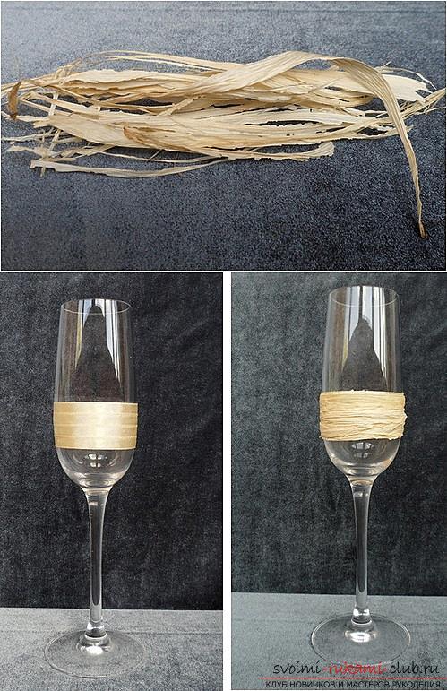 Hoe glazen te versieren met polymeerklei en hoe ringen te maken voor servetten gemaakt van thermoplastisch materiaal. Foto # 17