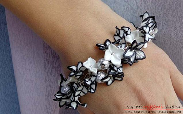 How to create a bracelet of polymer clay with your own hands, master class with a photo .. Photo # 33