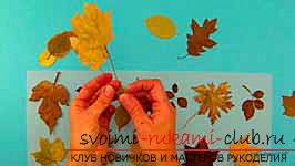 Autumn crafts with your own hands from the leaves. Photo # 2