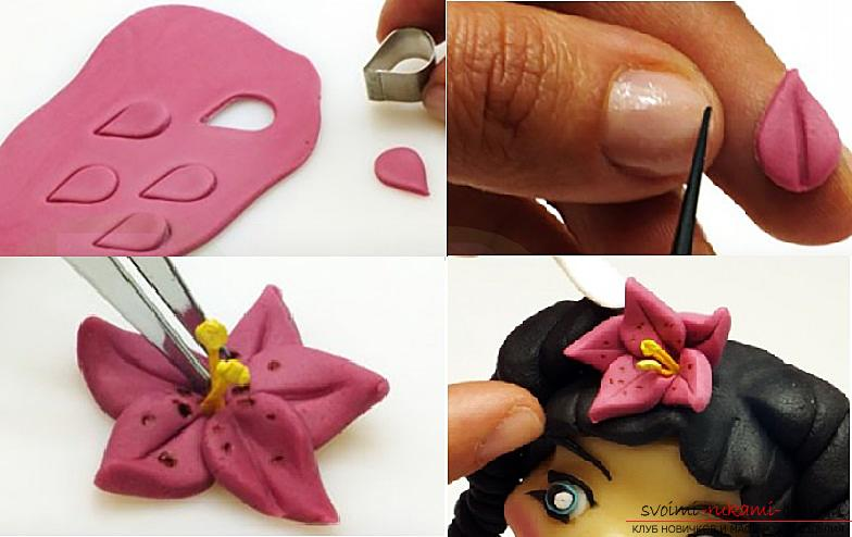 Master class on modeling dolls from polymer clay with their own hands. Photo number 16