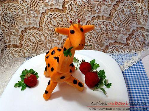 We create interesting and delicious handicrafts from vegetables and fruits. Photo # 24