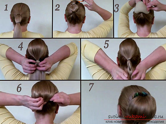 Master classes on creating hair styles for hair of medium length with their own hands. Photo number 12