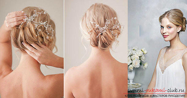 Fast hairstyles for the holiday with their own hands, step by step photos and detailed instructions .. Photo # 5