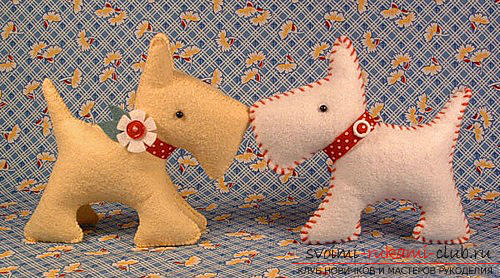 We master the dog from the felt with the help of pattern and recommendations .. Picture №3