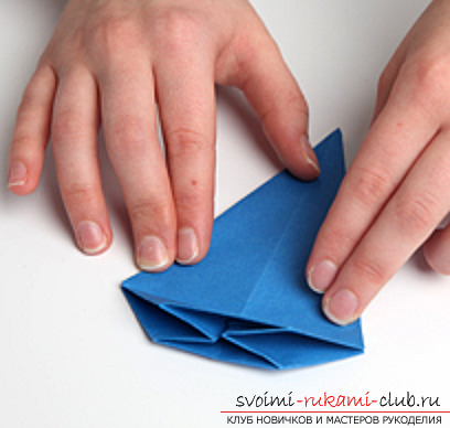 Blue dragon origami. Photo №13