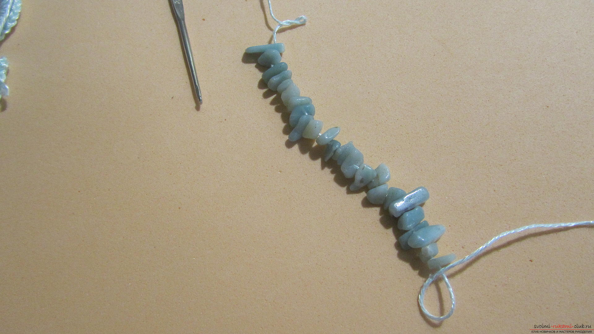 This master class will teach you how to make jewelry yourself, a homemade necklace can be crocheted. Photo №8