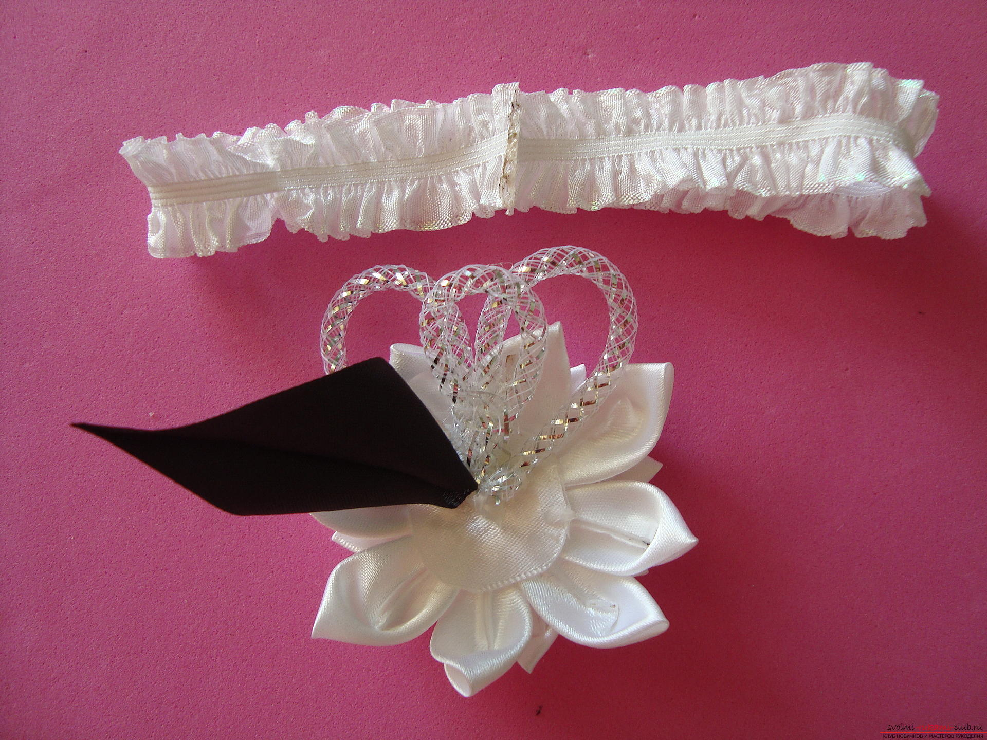 Step-by-step instruction for making bandages for the bride with description and photo. Photo №25
