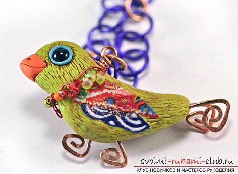How to make a bird with your own hands from various plastic materials .. Photo # 16