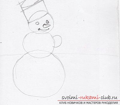 Draw a Snow Maiden, Santa Claus and herringbone with her own hands. Photo №7