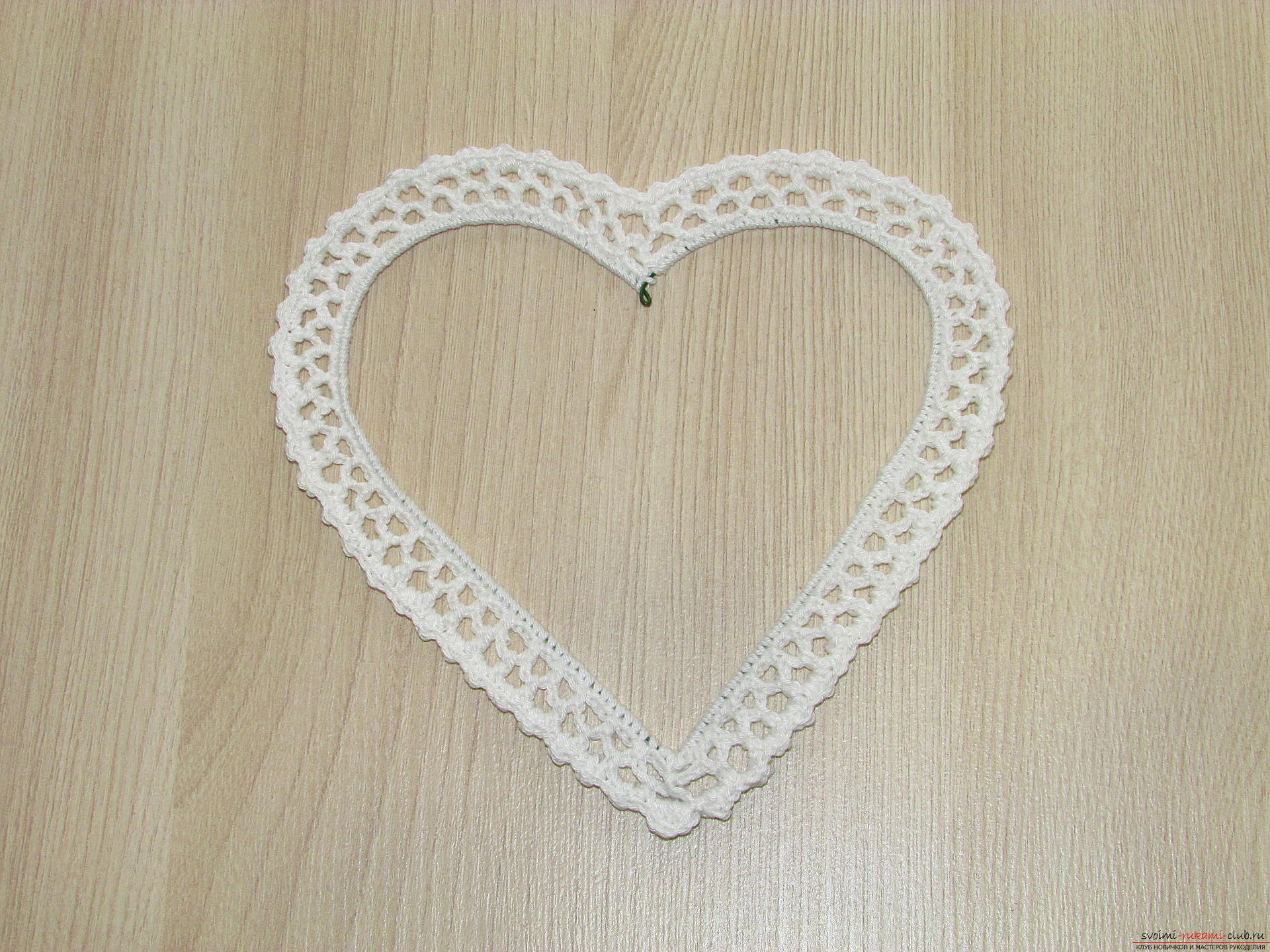 This master class on crochet will teach you how to create your own beautiful frame for your photos .. Photo # 9